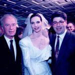 יצחק רבין עם הילה ורני רהב בחתונתם